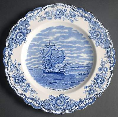 Crown Ducal COLONIAL TIMES BLUE Mayflower Dinner Plate 7556035