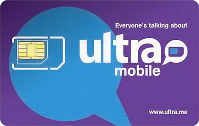 PreLoaded Ultra Mobile SIM Card+$29 Plan 1st Month INCLUDED (4GB FAST DATA)
