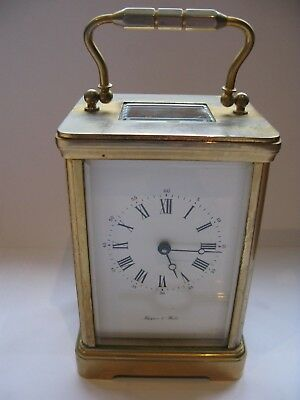 Mappin and Webb Brass Carriage Clock and Key