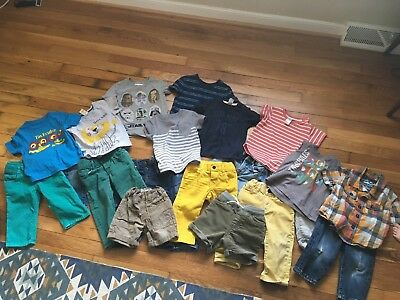 Lot Of 21 Toddler Boy Summer Spring Baby Boy Clothes 12 M 12-18M Gap H&M Mixed