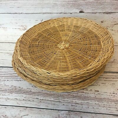 36 WICKER Rattan Bamboo Straw Paper Plate Holders Picnic C&ing ... 36 WICKER Rattan Bamboo Straw Paper Plate Holders Picnic C&ing & Enchanting Straw Plate Holders Contemporary - Best Image Engine ...