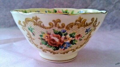 """Vintage Paragon Fine Bone China Sugar Bowl """"Minuet"""" Style By Appointment To HM"""