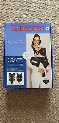 Baby Bjorn Miracle Organic Cotton Baby Carrier ~ Excellent ~ Back