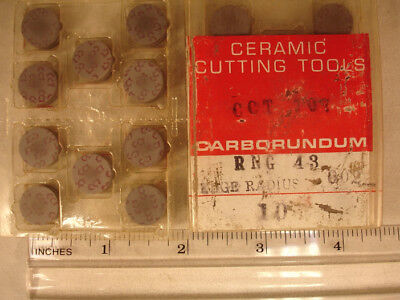 RNG 43 CCT CARBOUNDUM Ceramic  Inserts (10pcs) New&Original