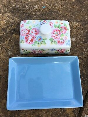 Gorgeous Cath Kidston 'Spray Flowers' Butter Dish - IMMACULATE CONDITION!!