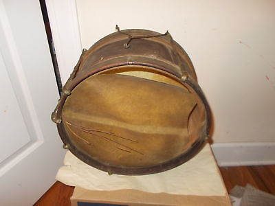 Antique Wood Drum-Old Snare On Bottom-Metal Tension Rods-Needs Cleaning,refurbis