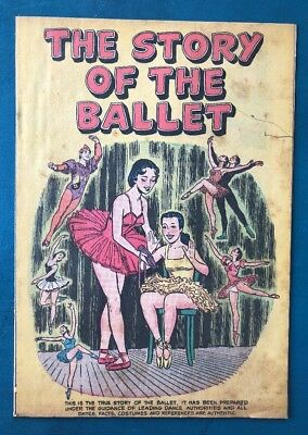 The Story Of Ballet 1954 Rare Giveaway Promo Comic  Selva & Sons Gd-Vg