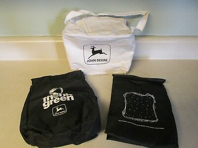 Lot Of Three John Deere Insulated Lunch Bags Black & White!