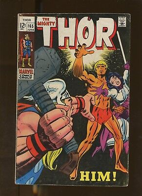 Thor 165 VG 4.0 * 1 Book Lot * HIM by Stan Lee & Jack Kirby!