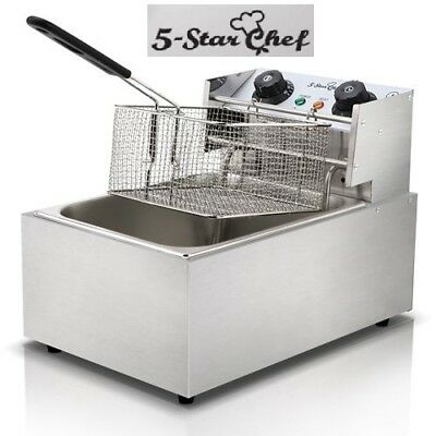 5 Star Chef Deep Fryer Cooker Single Basket Chip Oil Healthy Temperature Timer