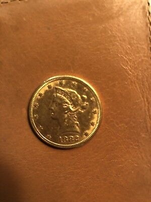 $10 Liberty Head Double Eagle Gold Coin XF+ Condition 1882