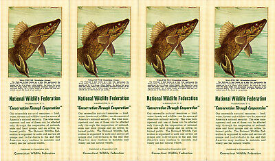 National Wildlife Federation Fish Wall-Eyed Pike 4 Advertising Ink Blotter Lot