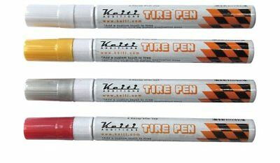 KEITI Additions Tire Paint Pen for Motorcycle Street Bike Rubber Tires YELLOW