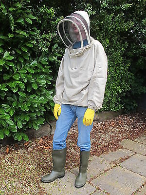 PREMIUM QUALITY Bee Smock, Fencing Veil Style - Olive. All Sizes