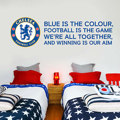 Chelsea Football Club Crest & Blue Is The Colour Song Wall Sticker Decal Vinyl