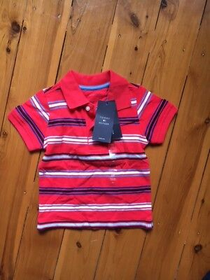 Tommy Hilfiger Baby Boys Red Blue Polo Top 18 months