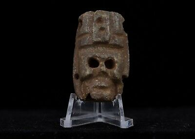Pre columbian Toltec Stone Bead-Private Collection-Olmec Aztec Maya