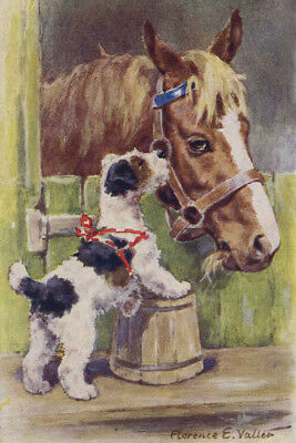 Sealyham Puppy Dog & Horse by Florence E. Valter 8  LARGE New Blank Note Cards