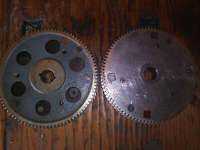 pair of Hardened steel gears steampunk decor industrial art supply tool