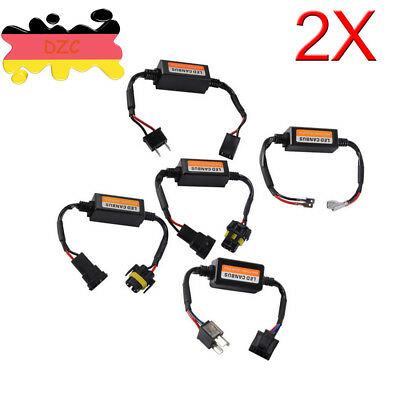 2x H1/H3/H4/H7/H11/H9/H8/9005/9006/H15 Car Auto Light LED Canbus Error Decoder