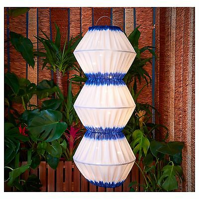 Ikea Solvinden Led Solar-Powered Pendant Lamp, Blue/white Hanging Patio Decor