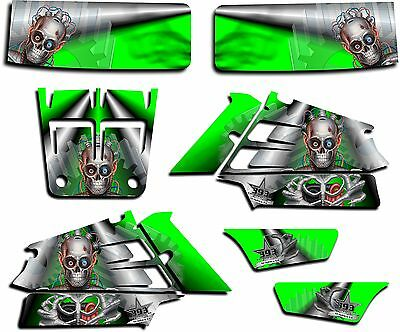 Yamaha Banshee Graphics Wrap Decal Sticker Kit Turbo Charged Green