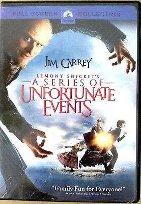 Lemony Snickets A Series of Unfortunate Events (DVD, 2005, Full Screen Collectio