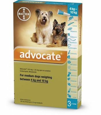 Advocate for Dog 4-10 kg Large Dogs - 6 Pack  (9 POUNDS TO 22 POUNDS)