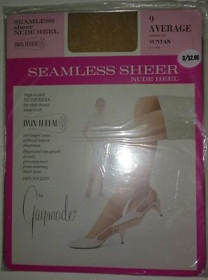 VTG NIP 25 Pair Gaymode Stockings Hose Seamless Sheer Suntan Penneys 8 9 Average