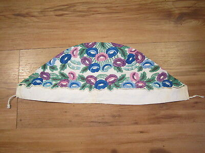 Antique Traditional Ethnic Hungarian Female Headdress Embroidered Cap Kalocsa