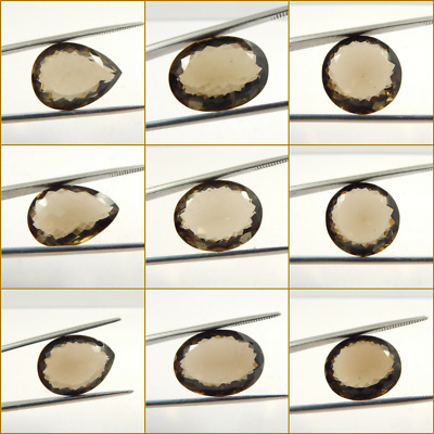 Grey 100% Natural Smoky Quartz Faceted Round,Pair,Oval, Loose Gemstone L#191