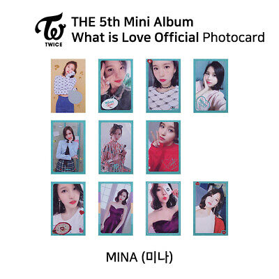 TWICE 5th mini album : What is love Official Photocard - Mina