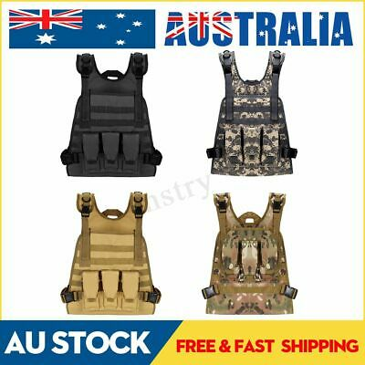 Military Tactical Molle Vest Paintball Jacket Plate Carrier Hunting With Pouches