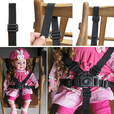 1Pc Baby Kid Strollers Safety Harness Highchair Pram Car Black Safety Belt Strap