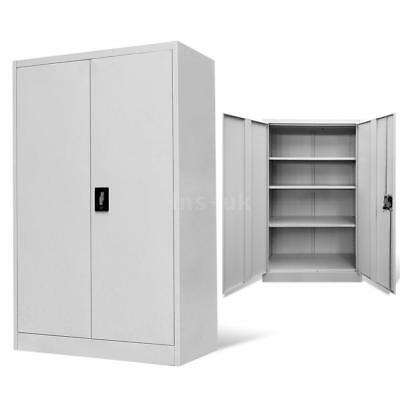 Office Filing Storage Cabinet Steel Grey Unit Cupboard Furniture Decor H6C5