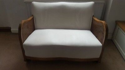 Early 20th Century Upholstered Cane Sofa and Chair Set