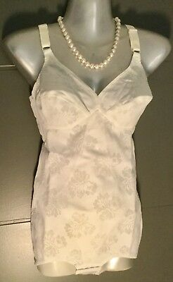 Vintage St MIchael Full stretch Corset Girdle White 36