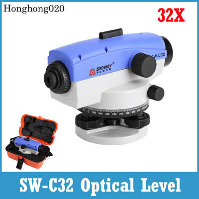 360° Self-levelling Tool SW-C32 Optical Level + 32X Magnification Lens with Case