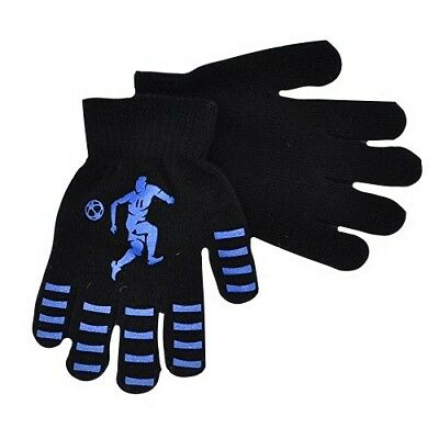 3 Pairs Boys Winter Gripper Gloves Football Design*REF738*