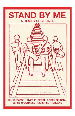 Stand By Me Movie Poster 11x17 in / 28x43 cm Rob Reiner River Phoenix