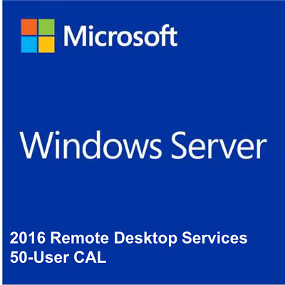 Microsoft Windows Server 2016 RDS 50 User CALs Remote Desktop Services DE EU