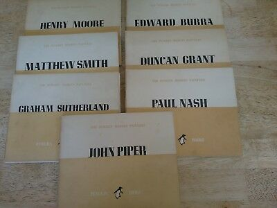 7 x The Penguin Modern Painters Vintage Softback Books