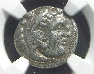 Greek Silver Drachm of King Philip III of Macedonia 323-317 BC NGC certified 021