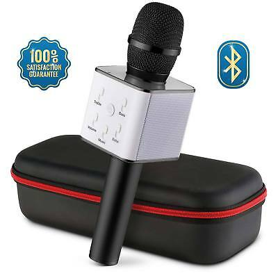 Q7 Wireless Bluetooth Magic Karaoke Microphone Speaker MINI USB mic Speaker UK