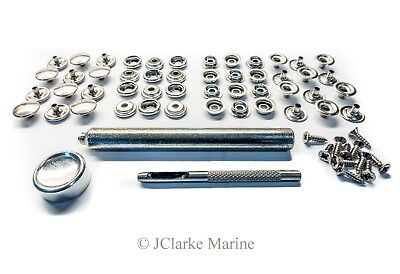 Marine grade stainless steel snap fastener kit 316 A4 boat canopy bimini cover