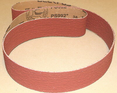 "2"" x 48""  Ceramic Hogging Sanding Belts 36 Grit - 3 Belts"