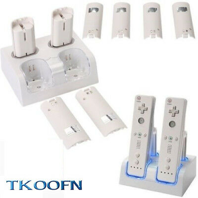 2/4x Rechargeable Battery Pack Charger Dock Station for Nintendo Wii Remote UK