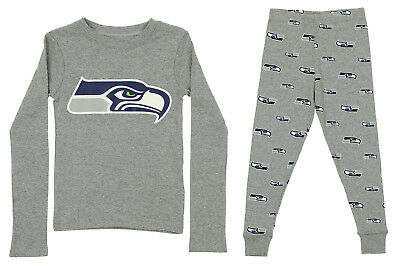 OuterStuff NFL Kids Seattle Seahawks Long Sleeve Tee & Pant Sleep Set