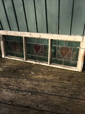 Stained Glass Panel Window In Frame X 3