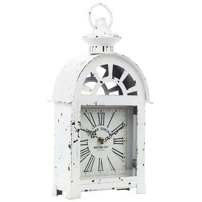 Table Clock Mantle Clock Chic Vintage Style Grand New York Shabby Lantern